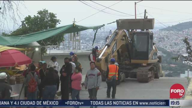 buscan minimizar riesgos en casas del cerro del chiquihuite