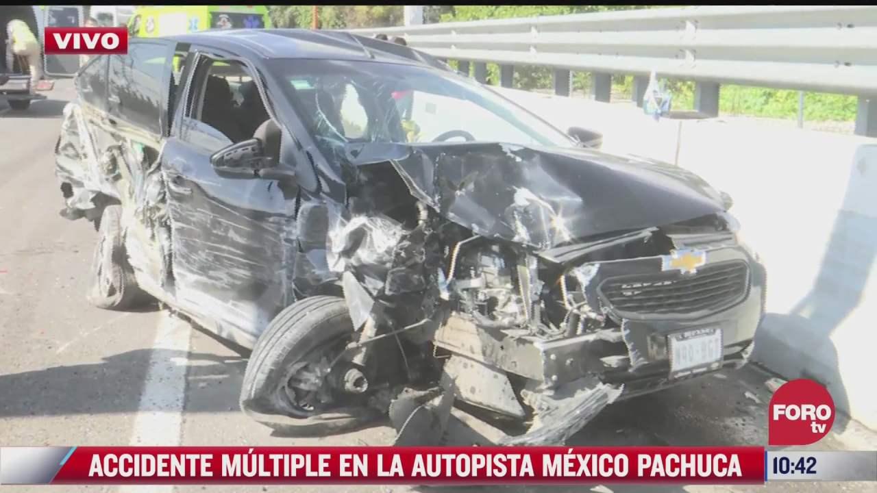 carambola en la autopista mexico pachuca deja 14 lesionados