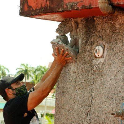 Vecinos de diferentes colonias de Acapulco padecen daños en viviendas tras sismo de 7.1 grados (Cuartoscuro)
