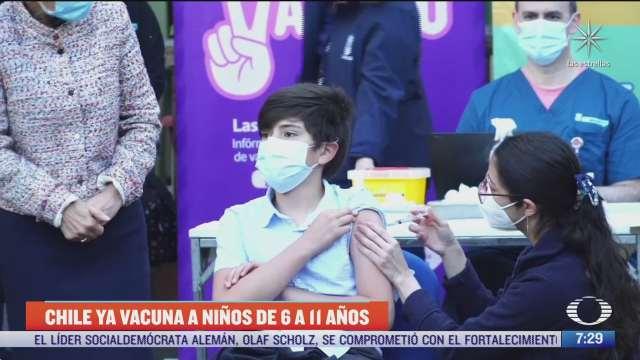 chile comienza a vacunar contra covid a ninos de 6 a 11 anos