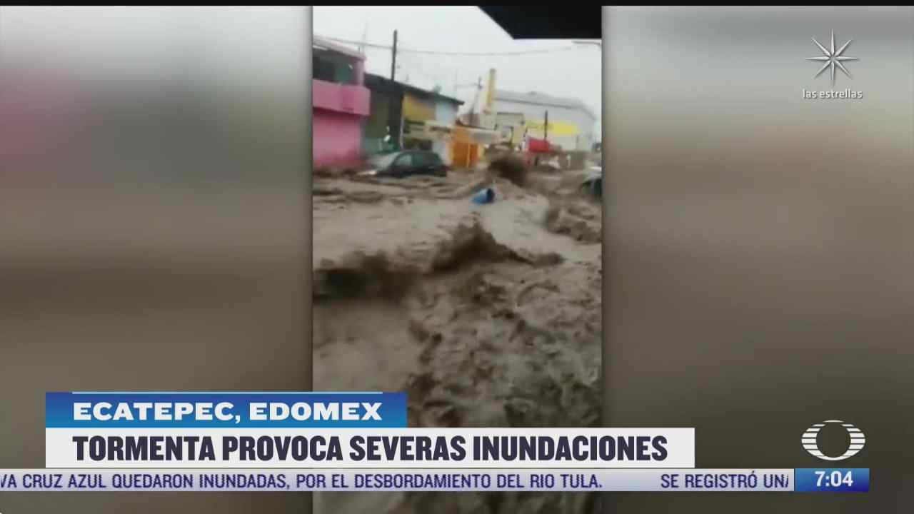 coacacalco neza y ecatepec los mas azotados por fuertes lluvias en estado de mexico