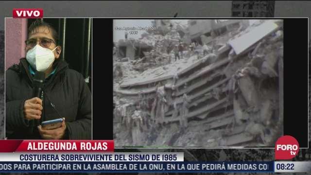 companera de costureras fallecidas en el sismo de 1985 narra como la tragedia cambio el trato hacia el gremio