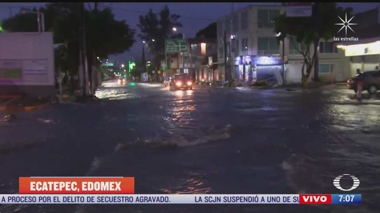 continuan las inundaciones en ecatepec estado de mexico