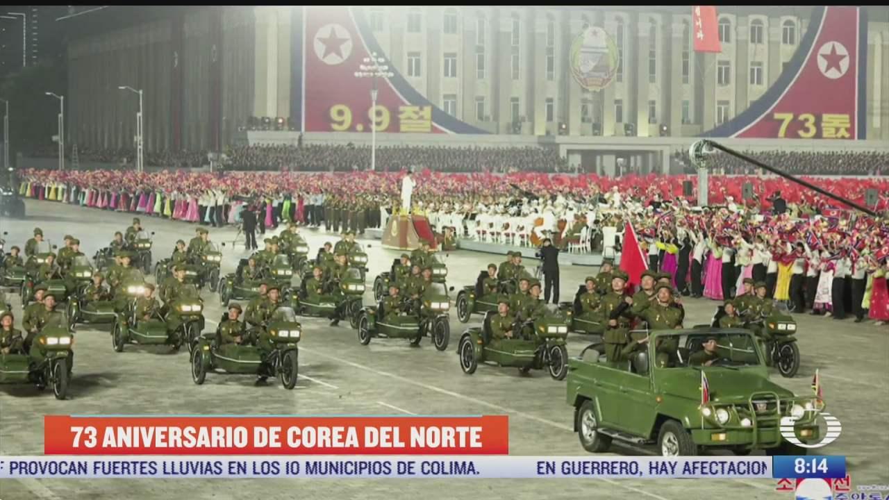 corea del norte celebra el 73 aniversario de su fundacion con desfile militar