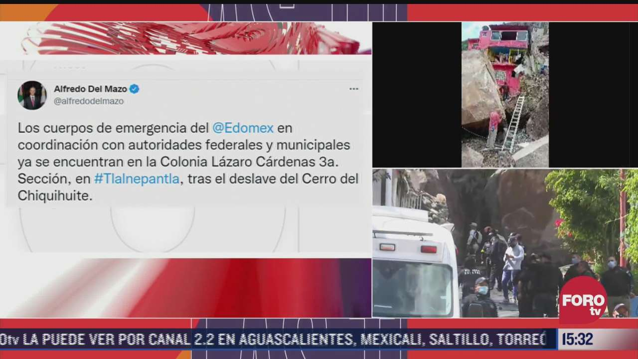 cuerpos de emergencia atienden deslave del cerro del chiquihuite alfredo del mazo
