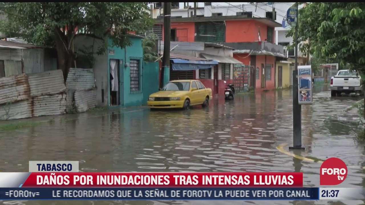 danos por inundaciones tras intensas lluvias en tabasco