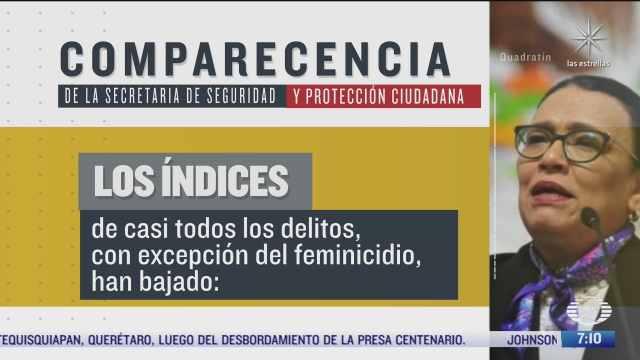 delitos han disminuido a excepcion del feminicidio reconoce rosa icela rodriguez ante el senado