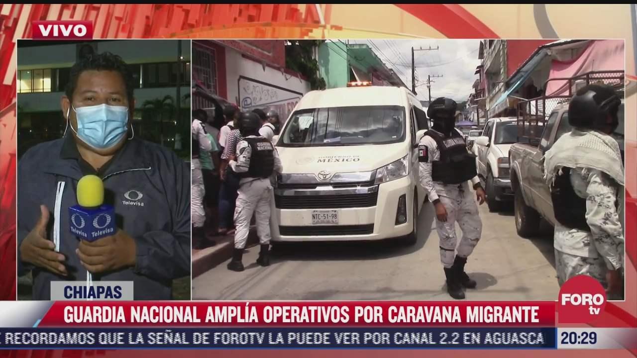 Desarticulan caravana migrante que transitaba en Chiapas