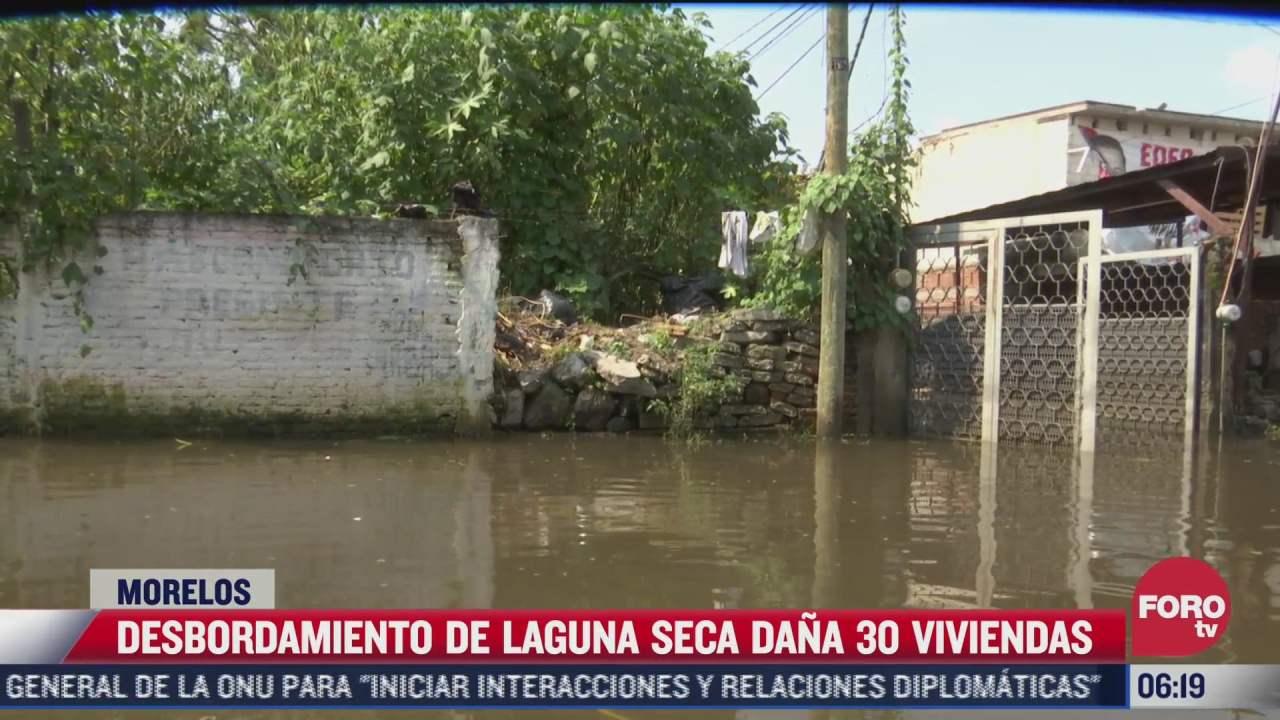 desbordamiento de la laguna seca afecta 30 viviendas en jiutepec morelos