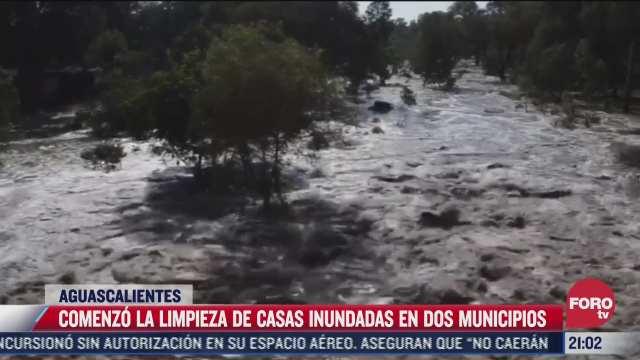 desbordan rios en aguascalientes e inundan casas