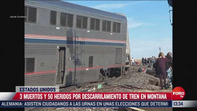 descarrilamiento de tren deja tres muertos y 50 heridos en montana eeuu
