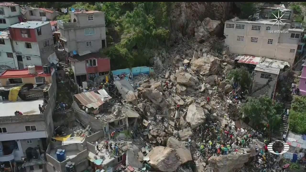 desgajamiento del cerro del chiquihuite deja un muerto y 10 desaparecidos