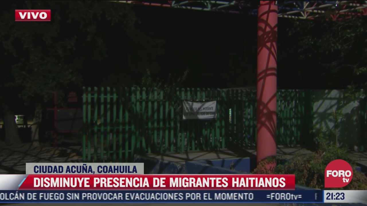disminuye presencia de migrantes haitianos en ciudad acuna coahuila