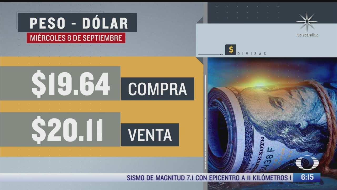 el dolar se vendio en 20 11 en la cdmx del 8 sep