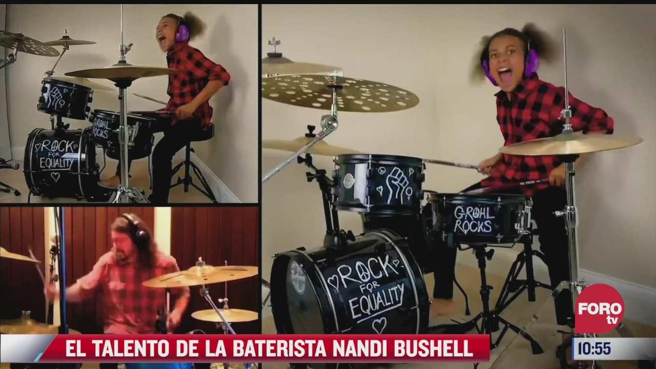 el talento de la baterista nandi bushell