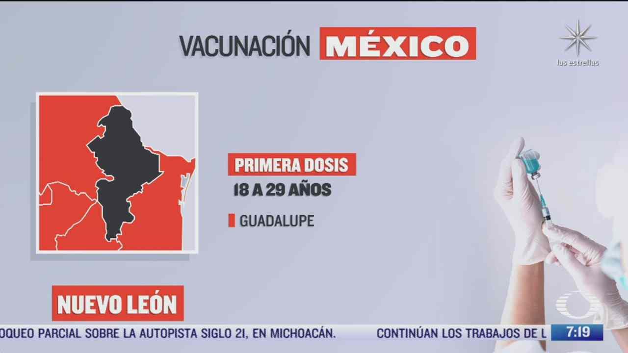 en que estados inicia la vacunacion covid hoy 27 de septiembre de