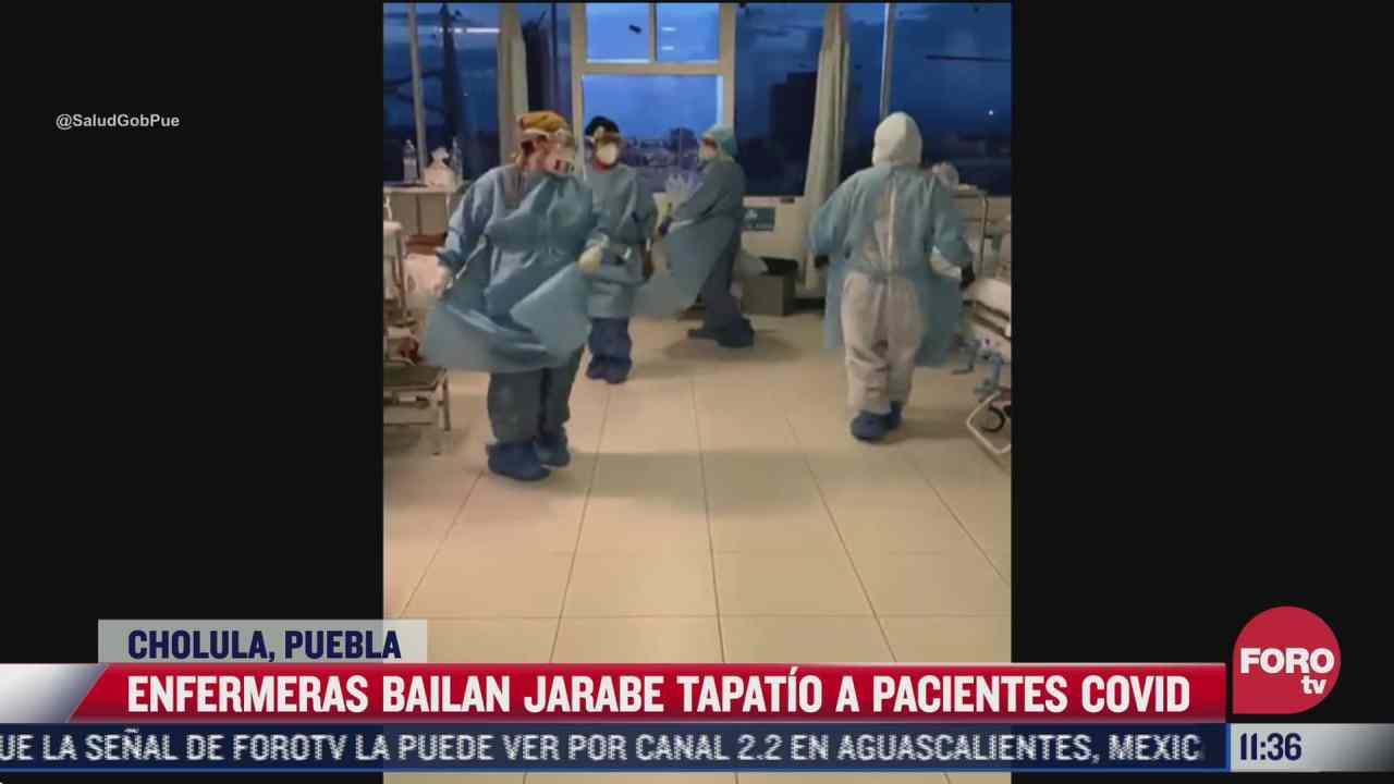 enfermeras bailan jarabe tapatio para animar a pacientes covid