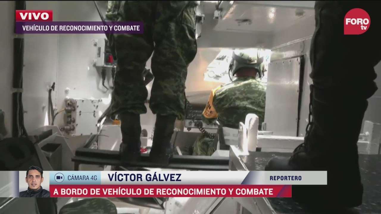 forotv muestra el interior de una tanqueta del ejercito mexicano durante desfile militar