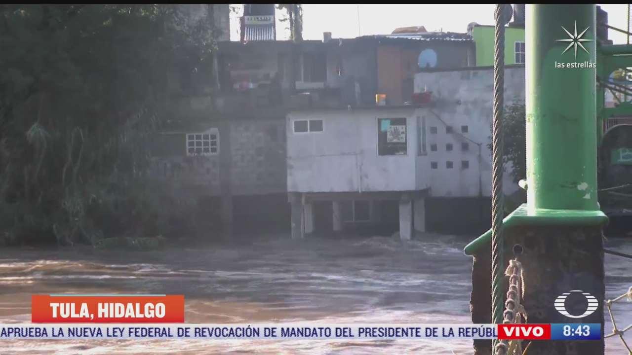 fuerza de rio tula deja tres mil casas bajo el agua