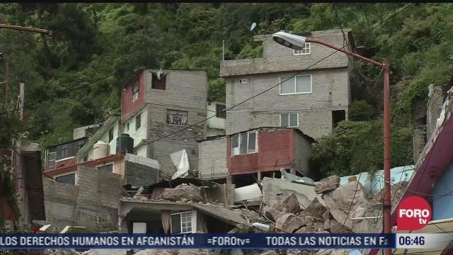 habitantes del chiquihuite no quieren desalojar sus casas