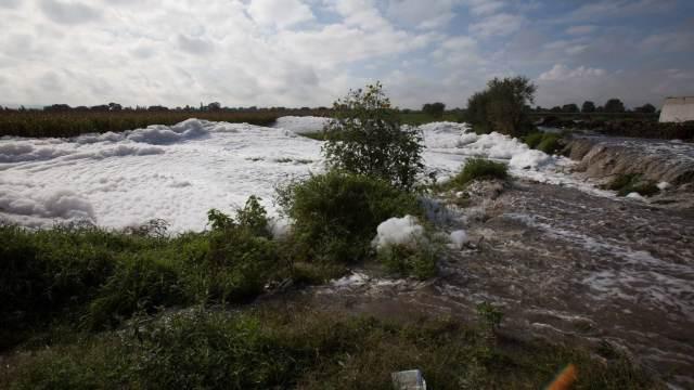 Conagua alerta por desbordamiento del río en Tula, Hidalgo