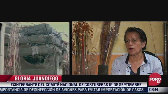 homenajean a las mujeres fallecidas en taller de costura tras el sismo de