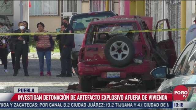 investigan detonacion de artefacto explosivo en puebla