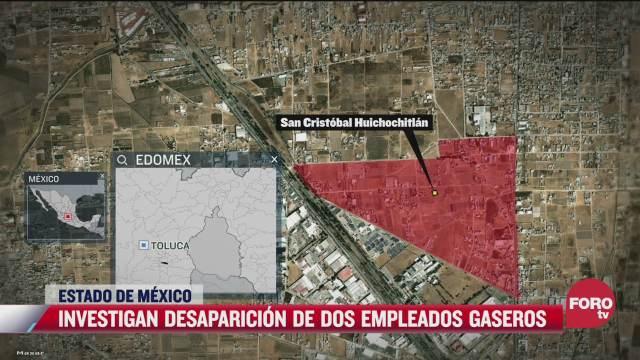 investigan secuestro de dos gaseros en el estado de mexico
