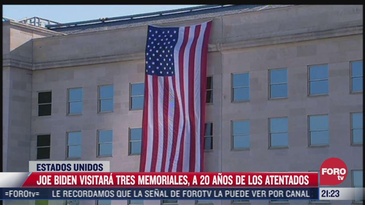 joe biden visitara tres memoriales a 20 anos de los atentados del 11 s
