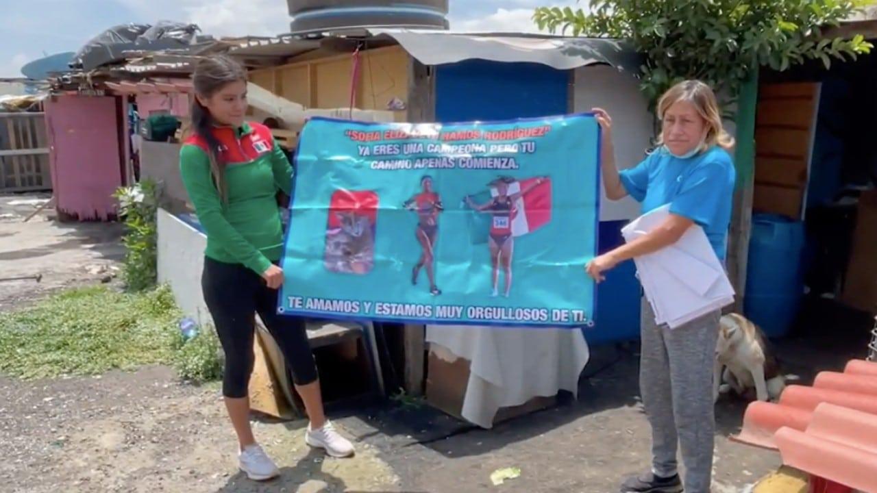 La conmovedora historia de la maratonista mexicana que vive en casa de cartón y busca otra medalla de oro