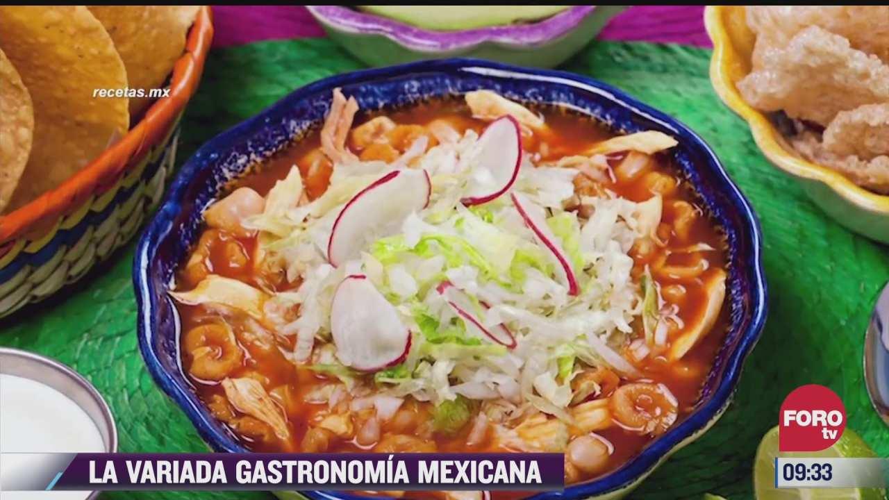 la deliciosa y variada gastronomia mexicana