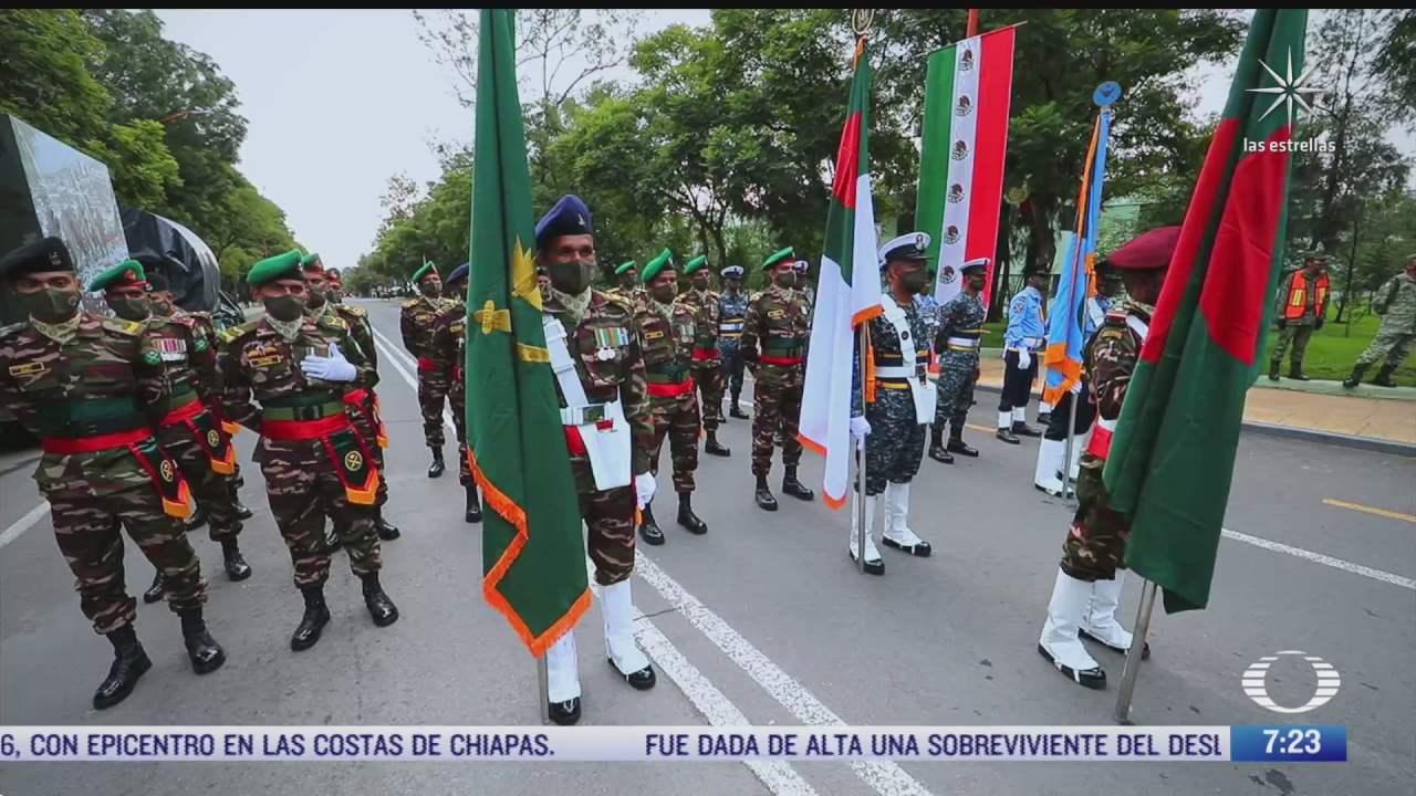 la participacion extranjera en el desfile militar de este 16 de septiembre de