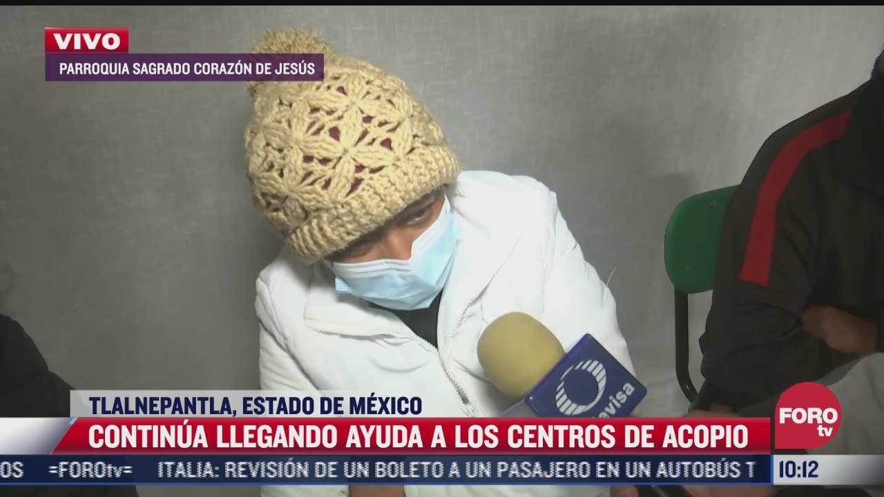 llega ayuda a centros de acopio para afectados del chiquihuite