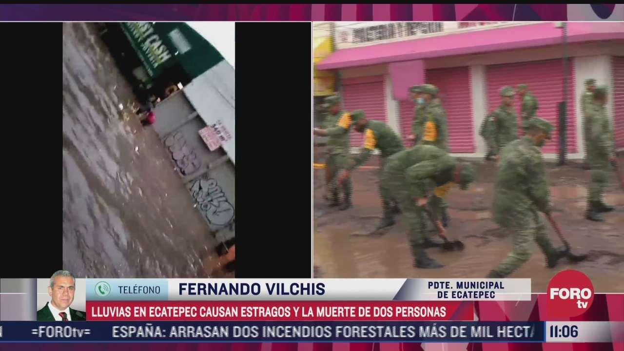 llovio seis veces mas de lo que se esperaba informa presidente municipal de ecatepec