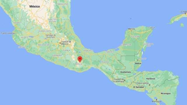 Sismo con epicentro en Tlacolula, Oaxaca (Google maps)