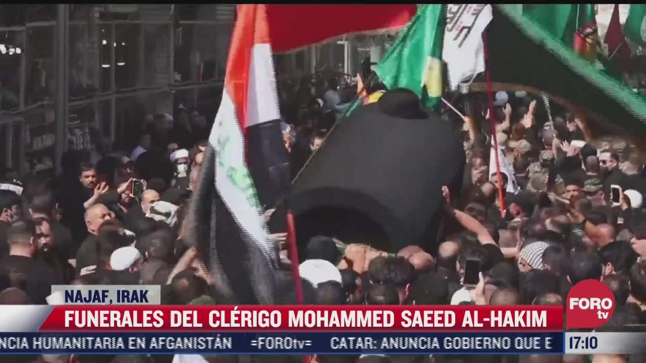 miles de personas asisten a funeral de clerigo musulman en irak