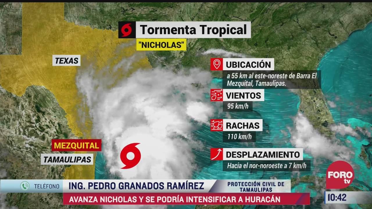 nicholas podria intensificarse a huracan cerca de tamaulipas