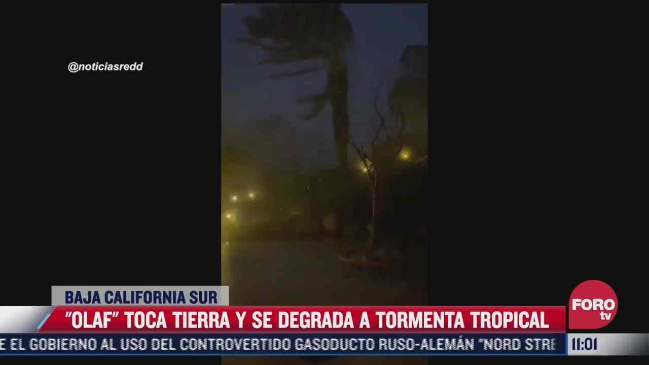 olaf se degrada a tormenta tropical en baja california sur