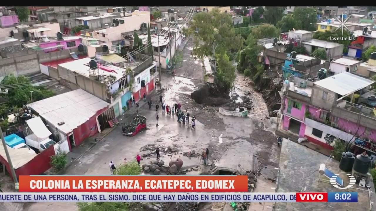 paola rojas recorre zona de desastre en ecatepec tras historicas inundaciones