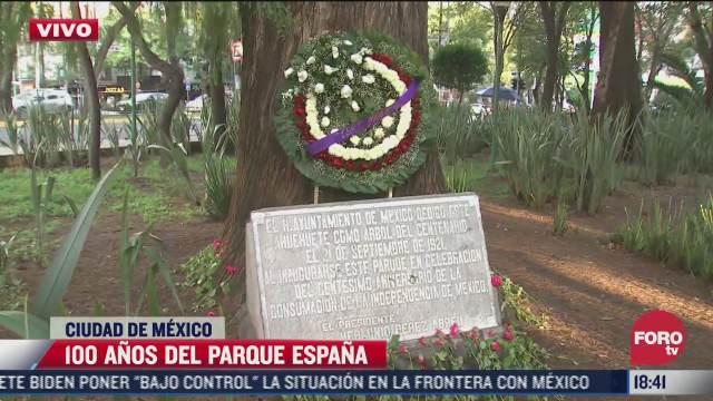 parque espana celebran 100 anos del parque espana en cdmx