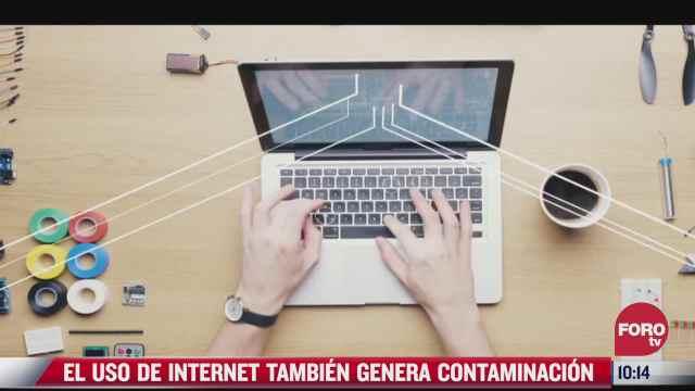 pepenando basura el uso de internet tambien genera contaminacion