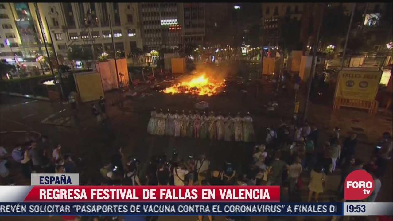 regresa festival de fallas a calles de valencia