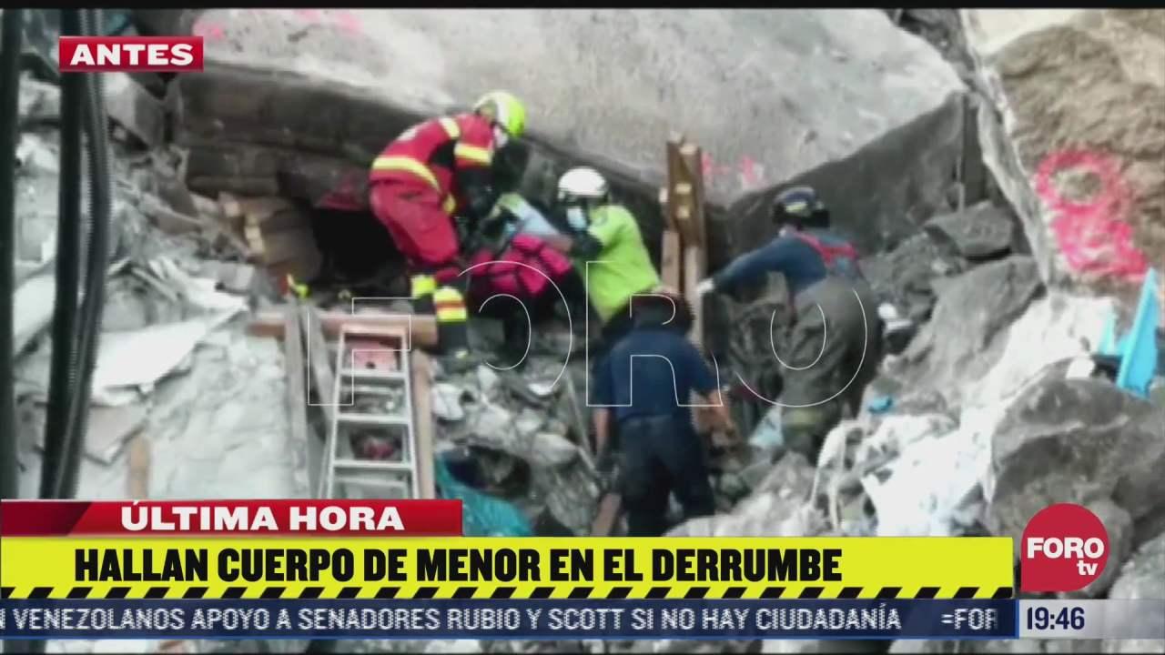 rescatan cuerpo de nina de tres anos tras derrumbe en el cerro del chiquihuite