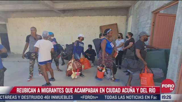 reubican a migrantes de ciudad acuna coahuila