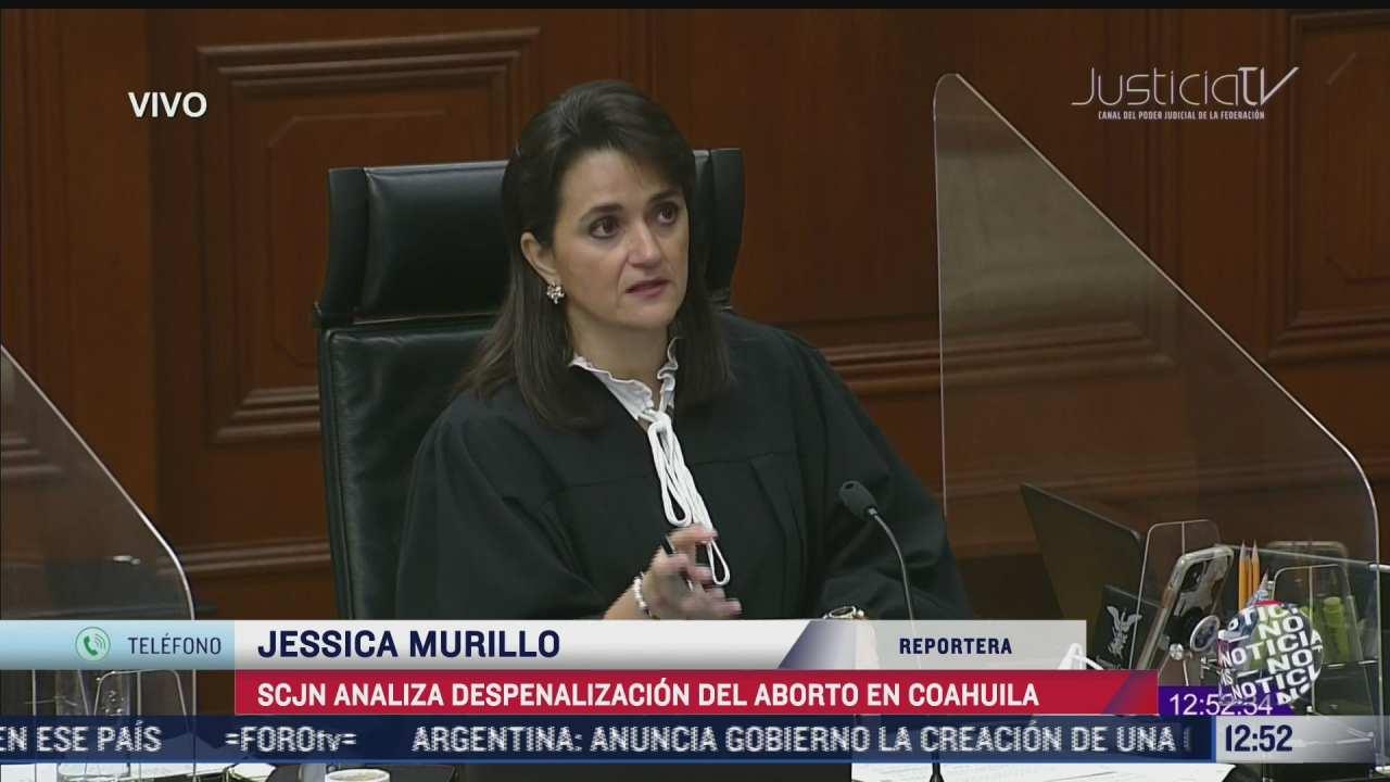 SCJN analiza despenalización del aborto en Coahuila
