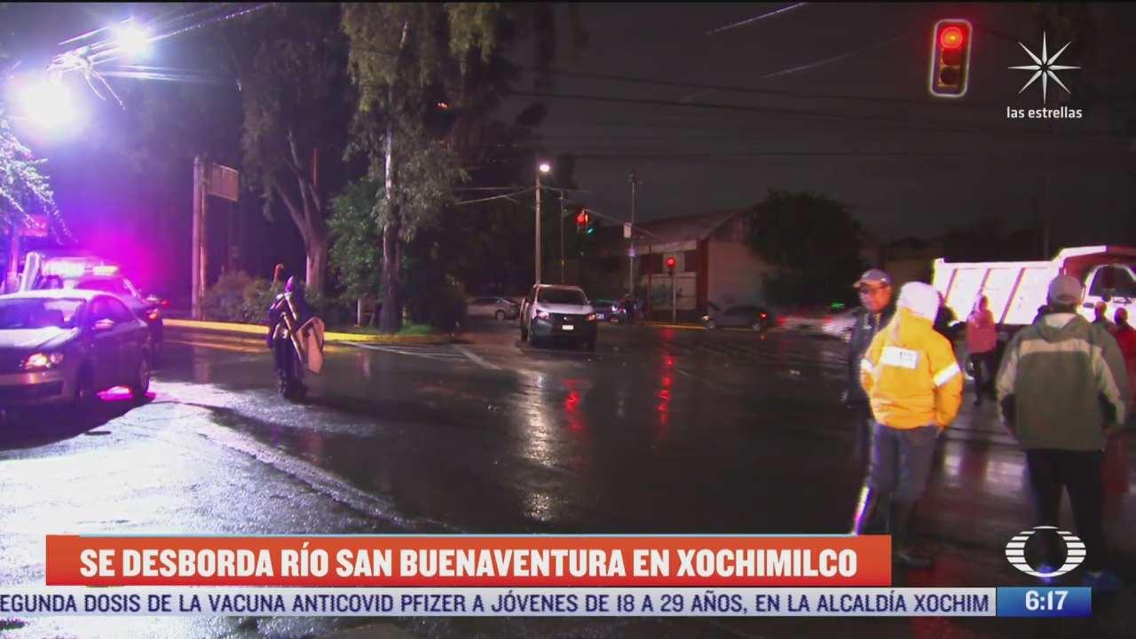 se desborda rio san buenaventura en xochimilco por fuertes lluvias