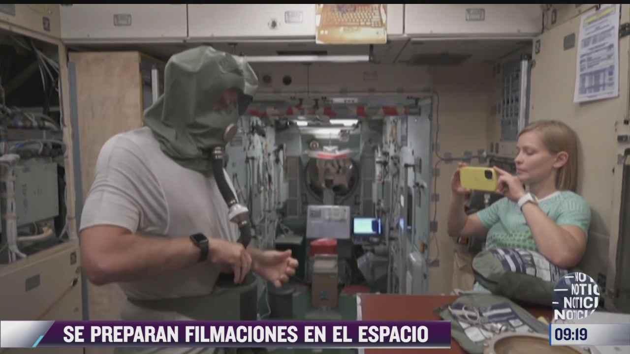se preparan filmaciones en el espacio