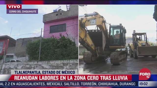 se reanudan labores de rescate en el cerro del chiquihuite tras suspension por lluvia
