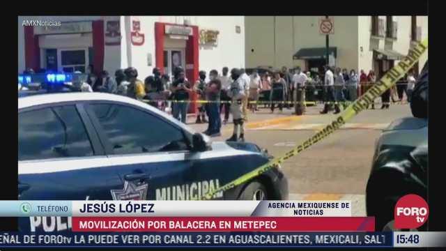 se registra movilizacion policiaca por balacera en metepec estado de mexico