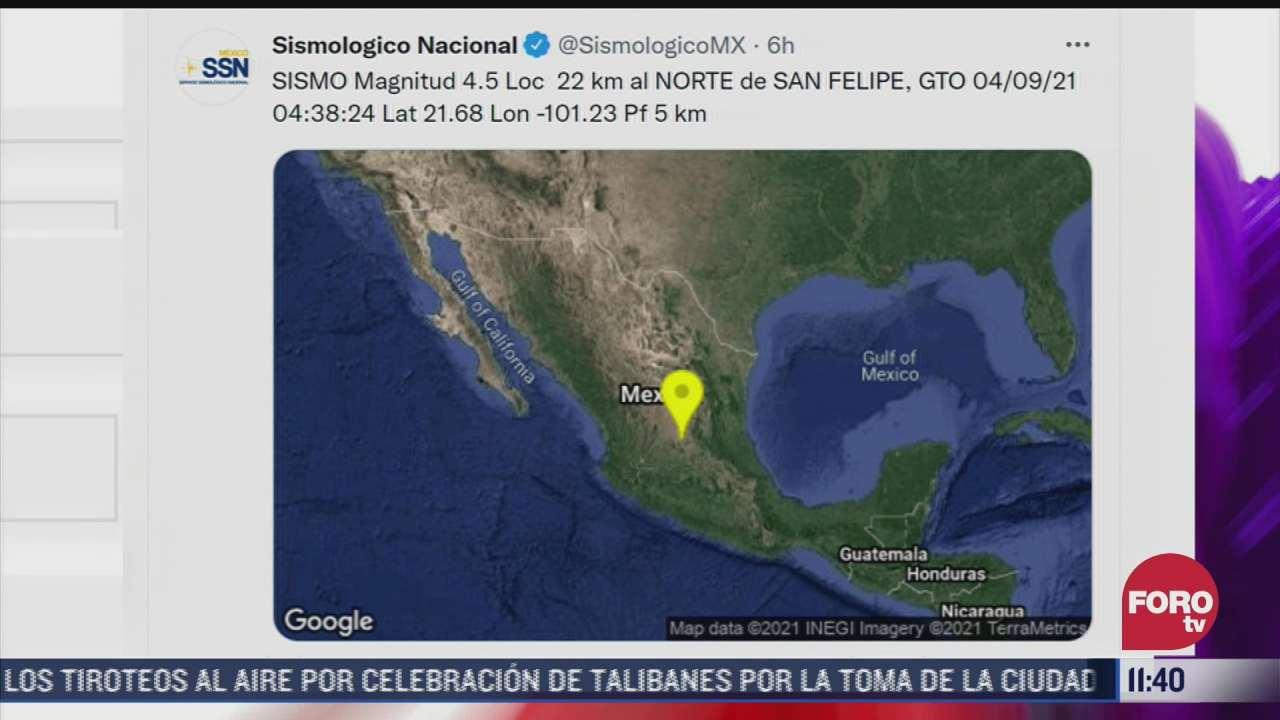 sismo de magnitud 4 5 remece guanajuato